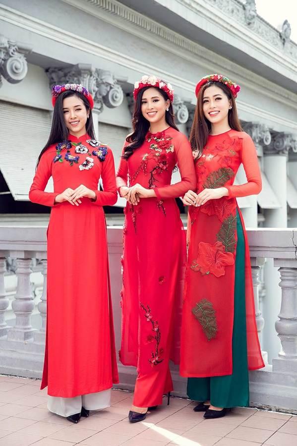 Top 3 HH Việt Nam 2018 khoe nhan sắc thanh xuân rực lửa với áo dài-9