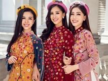 Top 3 HH Việt Nam 2018 khoe nhan sắc 'thanh xuân rực lửa' với áo dài