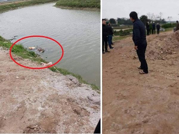 Thi thể bị trói tay trôi trên sông ở Vĩnh Phúc-1