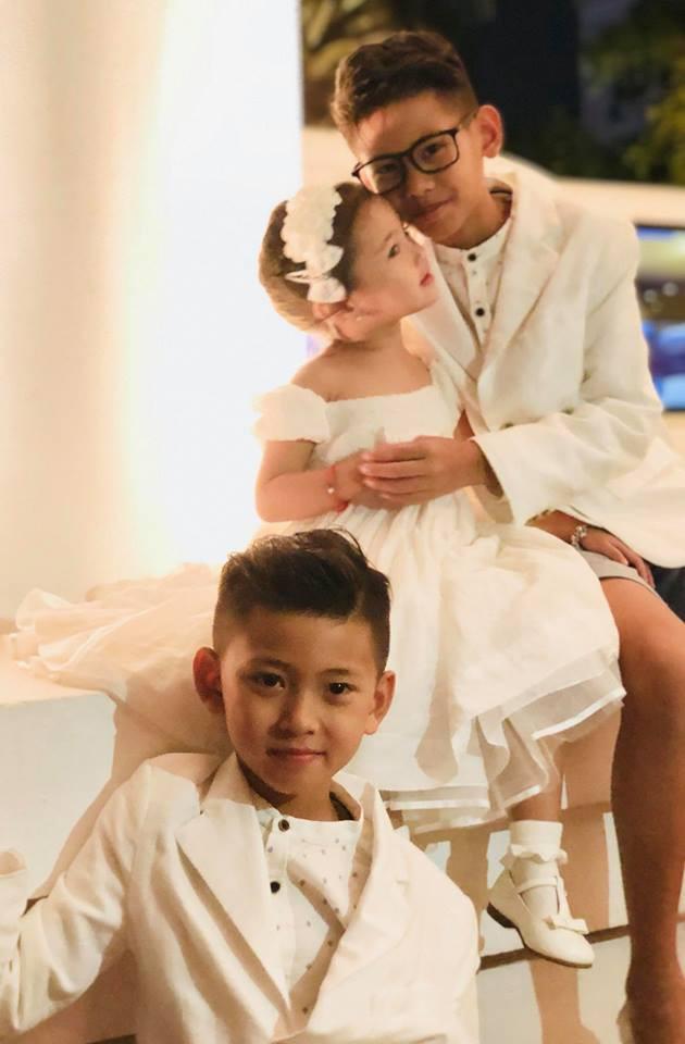 3 người con ruột của Hoa hậu Hà Kiều Anh và chồng đại gia có cuộc sống như thế nào?-3