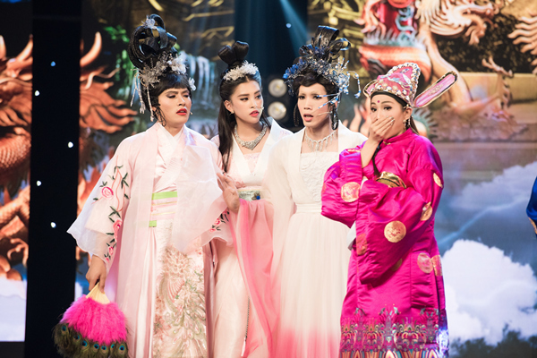 Hoa hậu Tiểu Vy ngã sõng soài khi đóng Táo cùng Mr Đàm-8