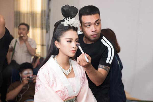 Hoa hậu Tiểu Vy ngã sõng soài khi đóng Táo cùng Mr Đàm-6