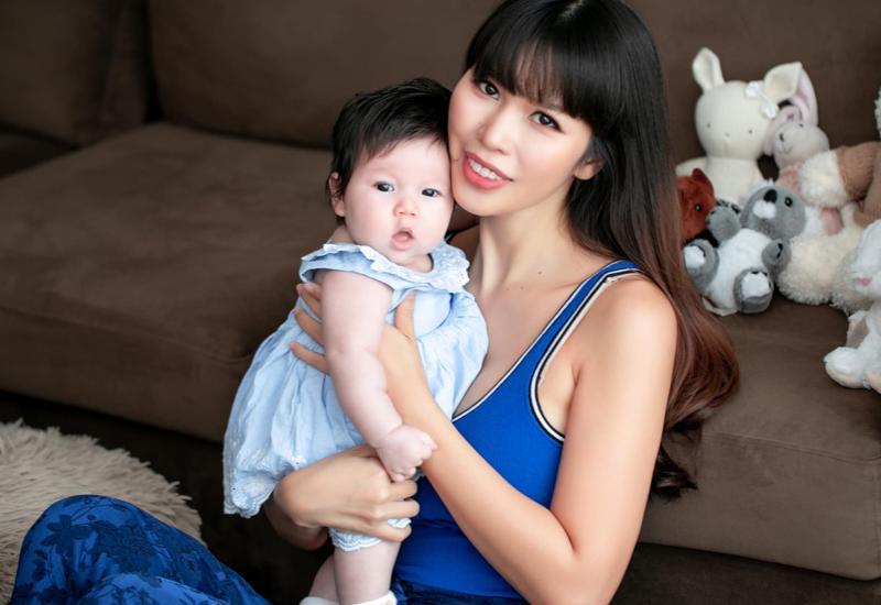 Chân dung cô nhóc mới 6 tháng đã nặng bằng bé 1 tuổi của siêu mẫu Hà Anh-14