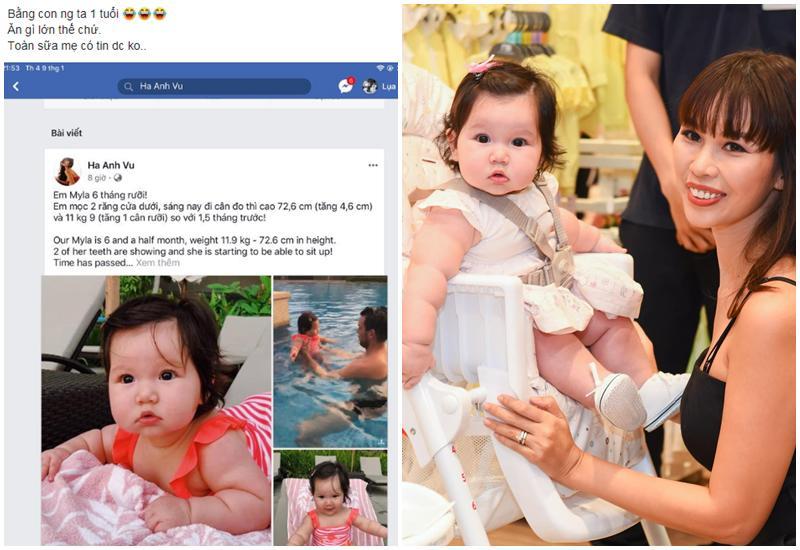 Chân dung cô nhóc mới 6 tháng đã nặng bằng bé 1 tuổi của siêu mẫu Hà Anh-5