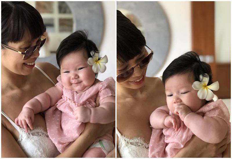 Chân dung cô nhóc mới 6 tháng đã nặng bằng bé 1 tuổi của siêu mẫu Hà Anh-20