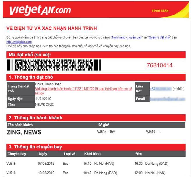 Lừa đảo vé máy bay giả tiếp tục nở rộ trước Tết Nguyên đán 2019-1