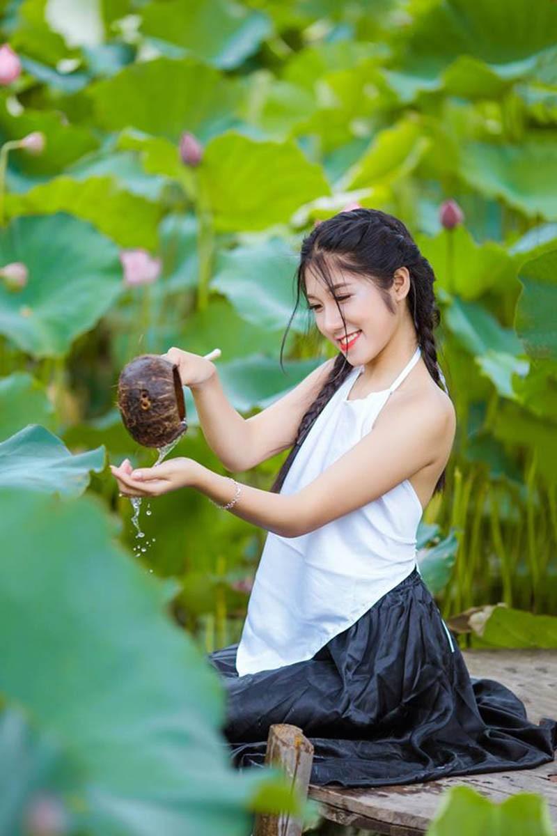 Nữ sinh Học viện Tài chính năng động, làm hoa khôi năm cấp 3-10