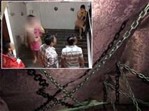Động spa bị đột kích ở Sài Gòn dùng lồng sắt, dây xích để