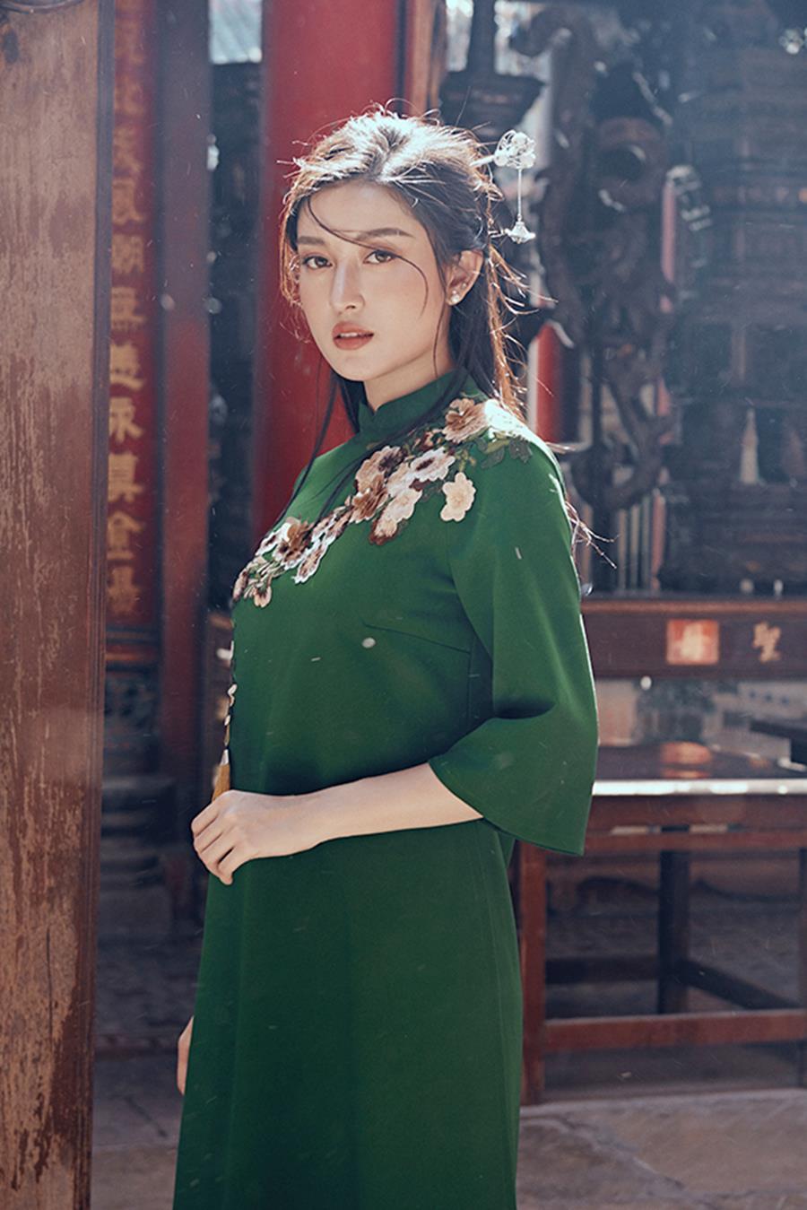 Á hậu Huyền My khác lạ trong bộ ảnh áo dài đón Tết-10