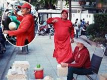 Phía sau đoạn clip người đàn ông mặc áo dài đỏ, nhảy múa trên hè phố Sài Gòn: