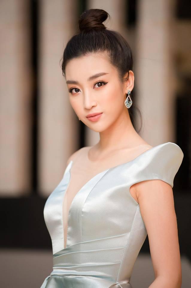 Hoa hậu Đỗ Mỹ Linh mê hoặc với tóc búi cao đầy thần thái-11
