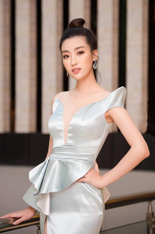 Hoa hậu Đỗ Mỹ Linh mê hoặc với tóc búi cao đầy thần thái-2