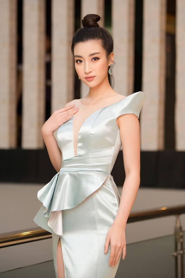 Hoa hậu Đỗ Mỹ Linh mê hoặc với tóc búi cao đầy thần thái-5