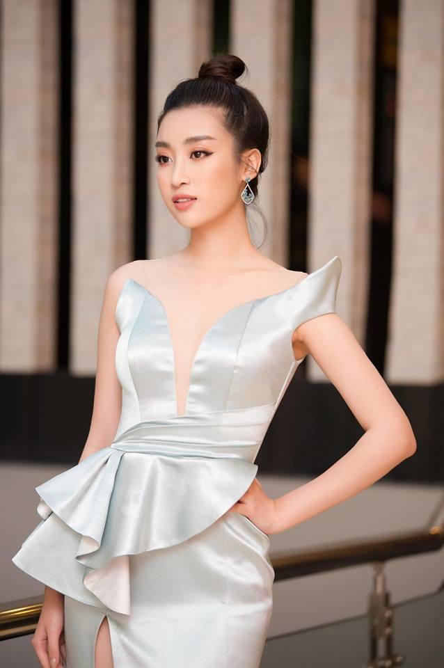 Hoa hậu Đỗ Mỹ Linh mê hoặc với tóc búi cao đầy thần thái-6