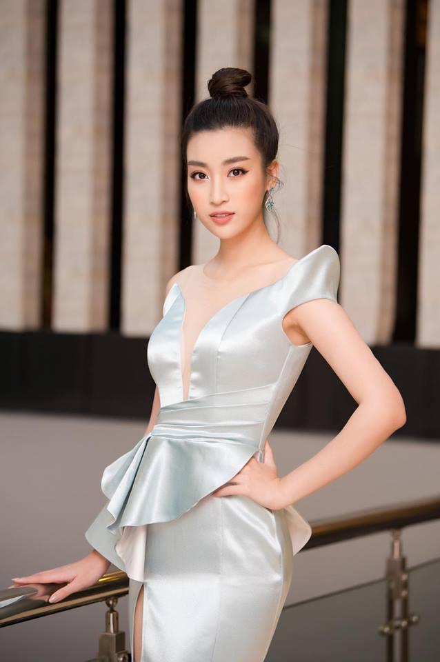 Hoa hậu Đỗ Mỹ Linh mê hoặc với tóc búi cao đầy thần thái-9
