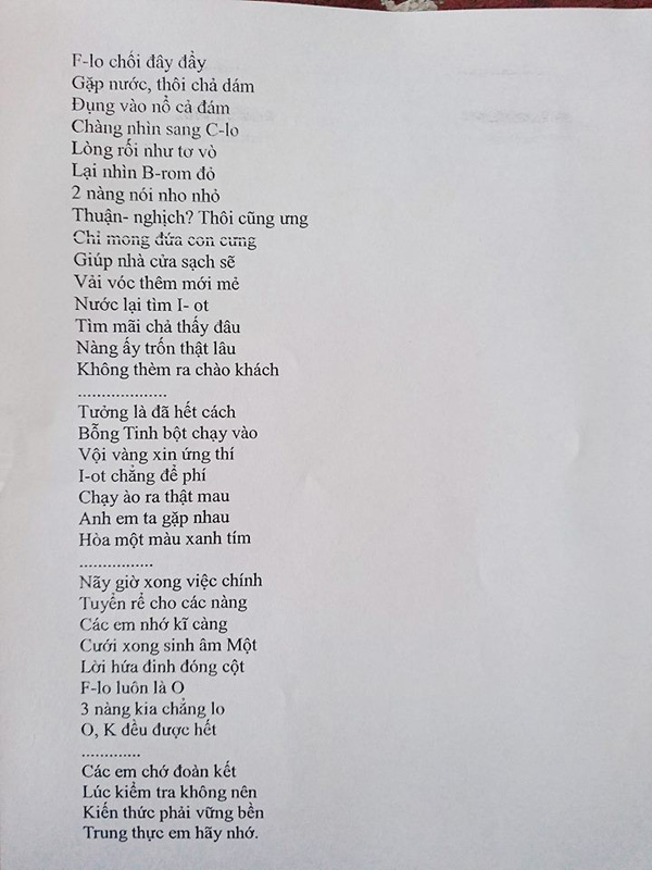 Khi cô giáo thích môn Văn nhưng bị bắt đi dạy Hóa thì cả lớp sẽ nhận đề thi bằng thơ-3