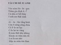 Khi cô giáo thích môn Văn nhưng bị bắt đi dạy Hóa thì cả lớp sẽ nhận đề thi bằng thơ