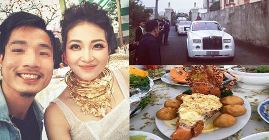 Lâu đài của đại gia Nam Định có con gái đeo vàng trĩu cổ ngày cưới-1