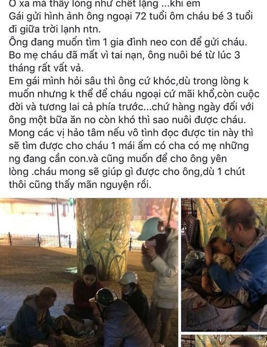 Thông tin bất ngờ về ông ngoại 72 tuổi ôm cháu bé 3 tuổi đi lang thang giữa trời lạnh ở Hà Nội-1