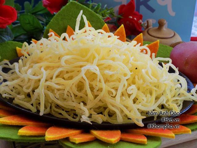 Cách làm mứt khoai tây sợi tuyệt ngon chẳng cần nước vôi trong-4