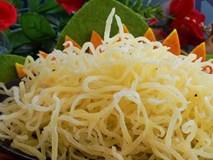 Cách làm mứt khoai tây sợi tuyệt ngon chẳng cần nước vôi trong