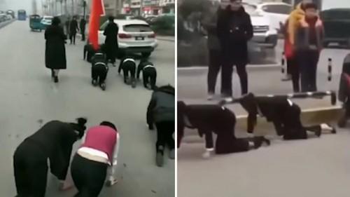 Công ty Trung Quốc phạt nữ nhân viên bò trên đường gây phẫn nộ-1