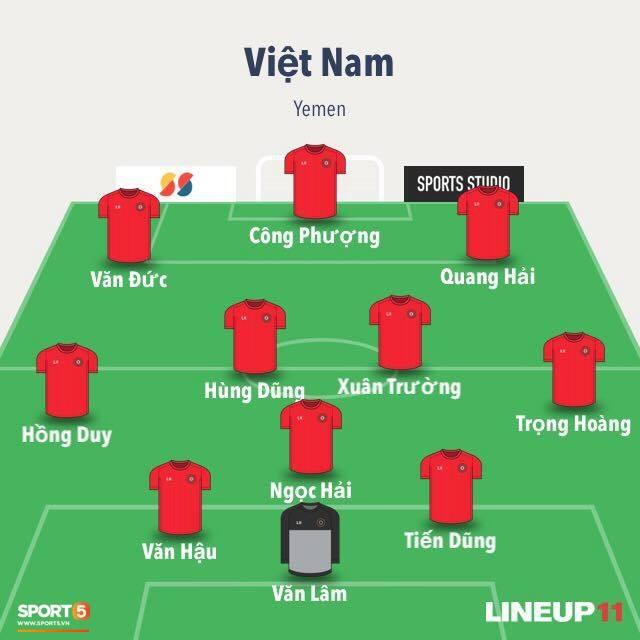 Việt Nam vs Yemen: Công Phượng, Xuân Trường đá chính, Văn Hậu chơi trung vệ-2