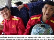 HLV Park Hang Seo mời cả đội đi ăn nhà hàng sau chiến thắng trước Yemen