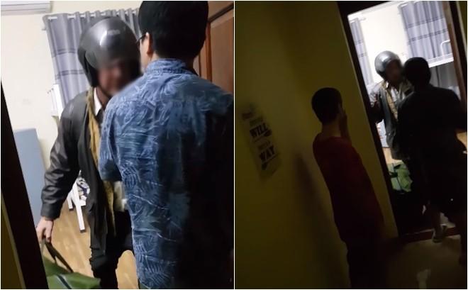 Xôn xao clip thầy giáo ngoại quốc cầm mũ bảo hiểm đánh tới tấp vào đầu chủ homestay ở Hà Nội-1