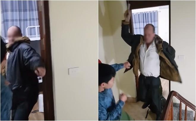 Xôn xao clip thầy giáo ngoại quốc cầm mũ bảo hiểm đánh tới tấp vào đầu chủ homestay ở Hà Nội-3