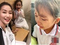 Con gái khóc không muốn đi học, mẹ Ốc Thanh Vân lại cho phép