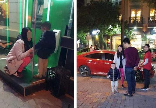 Cộng đồng mạng phẫn nộ với người mẹ trẻ bỏ con ở cây ATM giữa đêm rét, đoán nguyên nhân do cãi nhau với chồng?-1