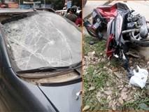 Ô tô tông trúng 2 người đang mua hàng trên phố Hà Nội