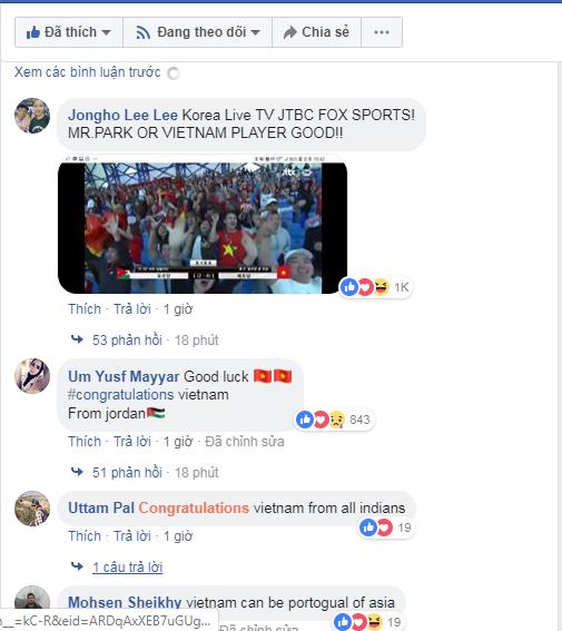 Sau chiến thắng nghẹt thở để giành vé vào tứ kết, CĐV khắp châu Á gửi chúc mừng nồng nhiệt đến đội tuyển Việt Nam-4