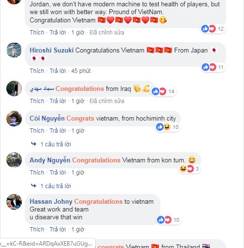Sau chiến thắng nghẹt thở để giành vé vào tứ kết, CĐV khắp châu Á gửi chúc mừng nồng nhiệt đến đội tuyển Việt Nam-7