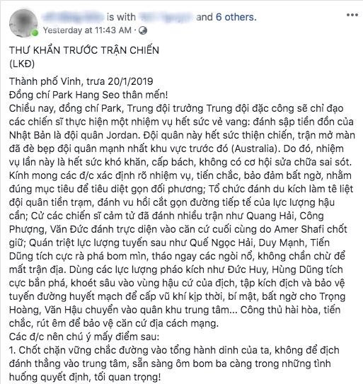 Bức thư khẩn gửi đội tuyển Việt Nam với phong cách chuyên Sử gây sốt MXH vì quá độc đáo và hào hùng-1