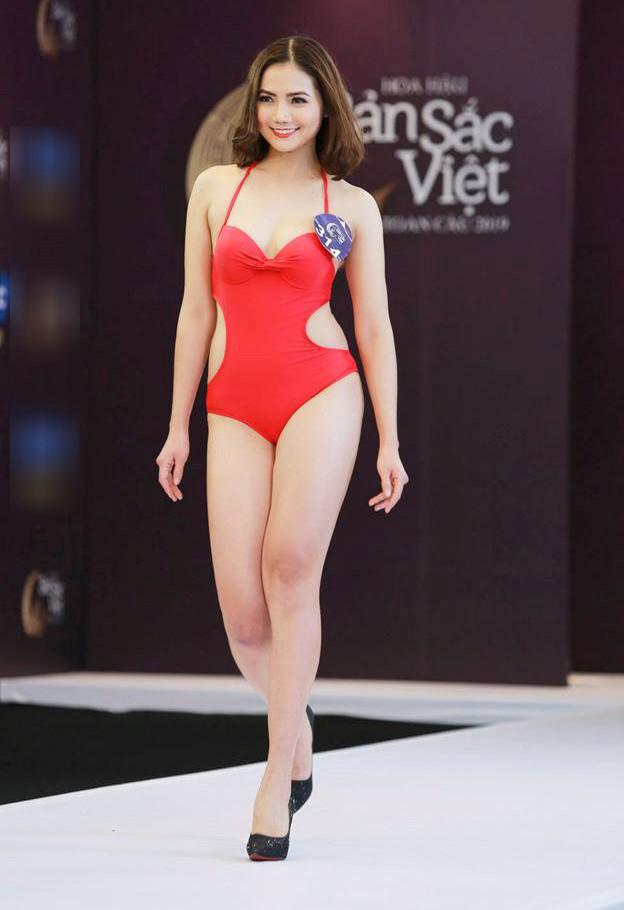 Thí sinh Hoa hậu Bản sắc Việt mặc áo tắm thi hình thể: Mặt xinh, eo to-7