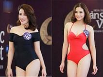 Thí sinh Hoa hậu Bản sắc Việt mặc áo tắm thi hình thể: Mặt xinh, eo to