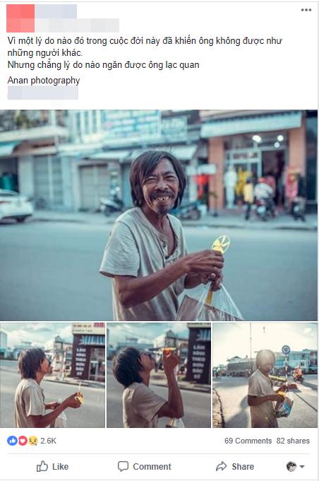 Nụ cười vô lo của người đàn ông lang thang khiến nhiều người cảm thấy bình yên: Dù giàu hay nghèo hãy luôn hạnh phúc với hiện tại-1