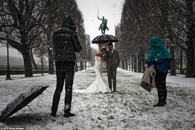 Paris đón tuyết đầu mùa sau nhiều tuần căng thẳng: Kẻ lãng mạn xuống phố, người cô đơn chống chọi giá rét-7