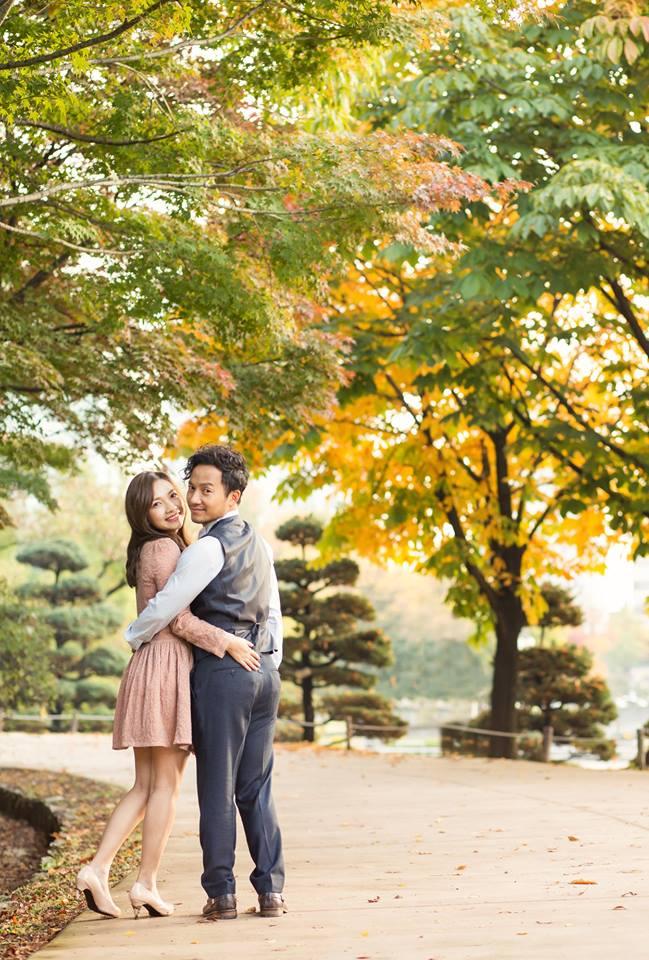 Tiến Đạt cười rạng rỡ bên bà xã giữa khung cảnh lãng mạn ở Hàn Quốc-14