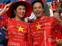 Không khí trận Việt Nam - Nhật Bản tại Dubai: Hoa hậu Ngọc Hân, MC Phan Anh gây chú ý