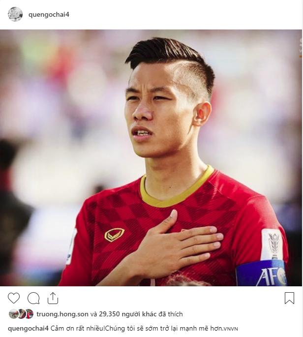 Các cầu thủ Việt Nam chia sẻ gì trên MXH sau màn đối đầu nghẹt thở với Nhật Bản?-1