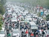 Chùm ảnh: Từ 3h chiều, đường phố Hà Nội ùn tắc 'không lối thoát' ngày giáp Tết