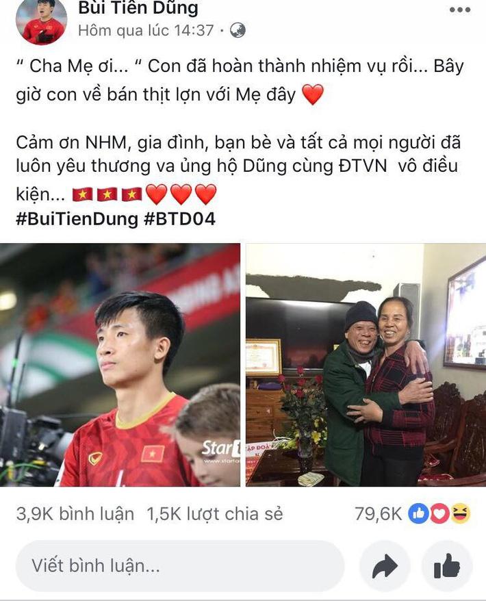 Chia tay Asian Cup, trung vệ Bùi Tiến Dũng về nhà bán thịt lợn cho mẹ-2
