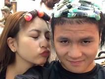 Vừa về nước, Quang Hải đã cùng bạn gái đi làm tóc mới đón Tết