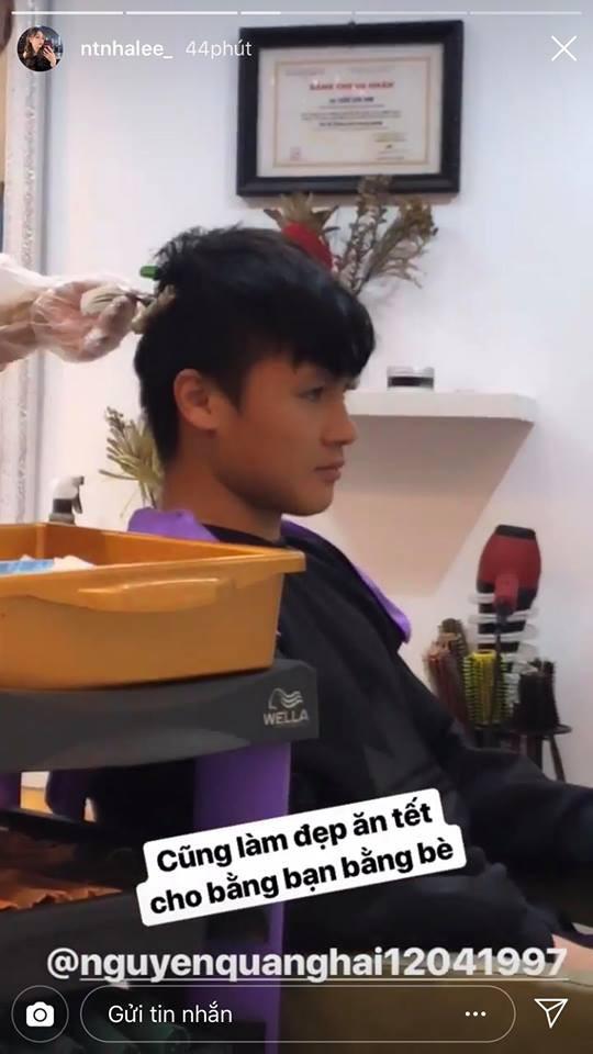 Vừa về nước, Quang Hải đã cùng bạn gái đi làm tóc mới đón Tết-2