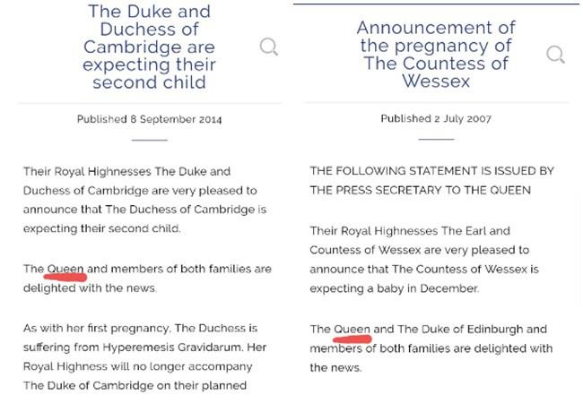 Người hâm mộ ngỡ ngàng phát hiện hóa ra Nữ hoàng Anh chưa từng xác nhận chuyện Meghan mang thai dựa vào điều này-2