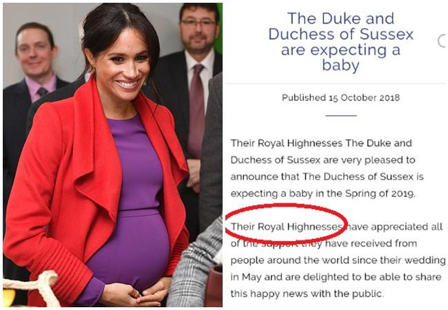 Người hâm mộ ngỡ ngàng phát hiện hóa ra Nữ hoàng Anh chưa từng xác nhận chuyện Meghan mang thai dựa vào điều này-1