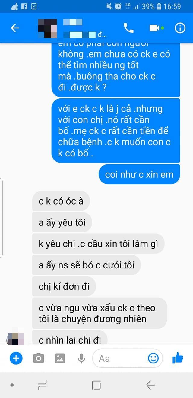 Bồ nhí của chồng ngang ngược, nhắn tin ép người vợ li hôn - chuyện khiến MXH dậy sóng-7